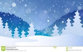 theme line winter winter theme landscape 4 stock vector illustration of seasonal