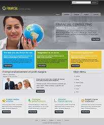 php css template for financial consulting company