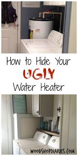 how hide your ugly water heater washers dryers and paint diy projects