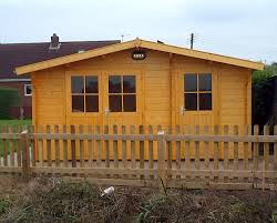lukas 34mm log cabin with shed