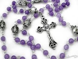 purple rosary purple rosary lavender rosary catholic rosary confirmation