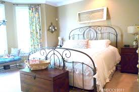 bedroom double bed frame upholstered headboard shabby chic