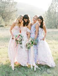 dresses for bridesmaids mismatched bridesmaid dresses we chic stylish weddings