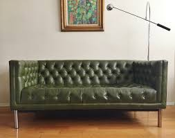 Tufted Chesterfield Sofa by Vintage Mid Century Tufted Chrome Tuxedo Chesterfield Sofa