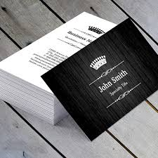 black wood grain royal crown double sided business card template