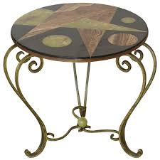 martini side table battered iron martini side table at 1stdibs