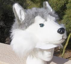 halloween dog mask siberian husky hat brand new unisex one size fits most with