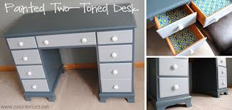 painting a desk white painted two toned desk tips on painting furniture jenna burger