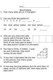 grade 1 math word problems worksheets printable second grade math word problem worksheets