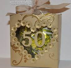 50th anniversary party favors sting inspiration golden anniversary fancy favor boxes