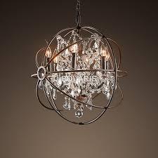 Modern Sphere Chandelier Aliexpress Com Buy Modern Vintage Orb Crystal Chandelier