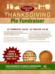 thanksgiving pie fundraiser runs through november 10th