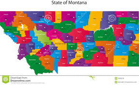 Map Of Montana State by State Of Montana Royalty Free Stock Images Image 9836279
