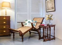 british colonial teakwood easy chair and nest of tables our