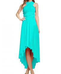 blue high low infinity dress
