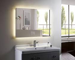 Bathroom Lighting Mirror - afina illume led backlit rectangular bathroom mirror of with back