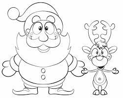 reindeer coloring pages santa gekimoe u2022 71993
