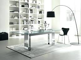 Modern Glass Office Desks Office Desk Modern Glass Office Desks Chic For Inspiration