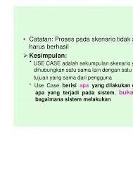membuat use case skenario bab 6 use case diagram 2010