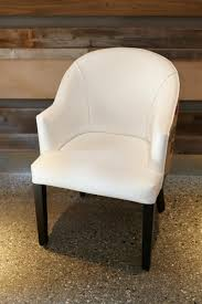 When White Leather Dining Chairs White Faux Leather Burlap Dining Chair Urban Kitchen Shop
