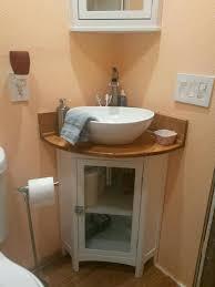 Bathroom Corner Vanity Intended For Renovation Possibilities - Corner sink bathroom cabinet