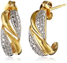 gold plated earrings 14k yellow gold plated sterling silver two tone