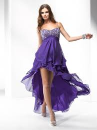 formal maternity dresses spaghetti straps asymmetrical high low purple beaded chiffon prom