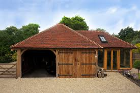Building A Garage Workshop by Oak Garages From The Brookwood Barn Company