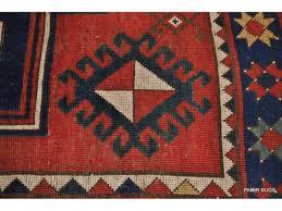 Red Blue Rug Caucasian Sewan Kazak Circa 1880 U0027s From South Caucasus Measures 5