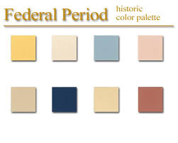 historic color palette federal style artsparx color palette