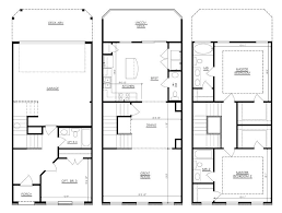 3 Bedroom Floor Plans With Garage Modren 3 Story House Floor Plans Bedroom 2 Bath French On Ideas