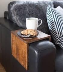 Sofa Arm Table by Custom Sized Upcycled Tasmanian Made Oak Couch Sofa Arm Table