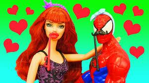 Barbie Photo Booth Barbie Mall Date With Superheroes U0026 Mary Jane Anna U0027s Frozen