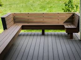 wood deck benches 4708