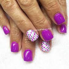 polished pinkies utah happy nail art for spring or summer purple