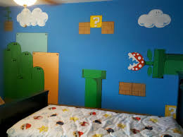 esqueda ink super mario bros wall mural mario luigi and other coins were fathead stickers that would be added later