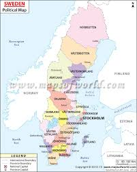 Capital Of Canada Map by Political Map Of Sweden Sweden Counties Map