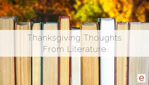 enotes ten thanksgiving thoughts from literature
