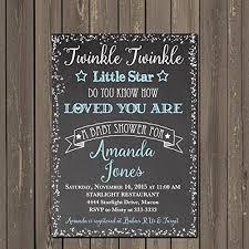 baby shower chalkboard twinkle twinkle baby shower invitation