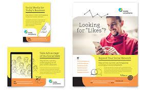 social media brochure template social media consultant flyer ad template design