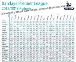 Jadwal Liga Inggris Jadwal Liga Inggris 2012 2013 Frendymatematik