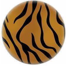 tiger animal print ceramic cabinet drawer knob contemporary
