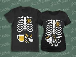 Maternity Skeleton Halloween Costumes by Happy T Shirts Skelly Baby Maternity Skeleton