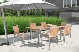 Patio Table Chairs by Vista Outdoor Teak Dining Table Set