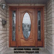 glass and wooden doors home exterior designs classic wood doors designs colors wood