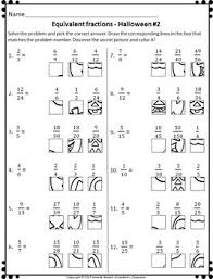 equivalent fractions worksheets grid drawing math fun