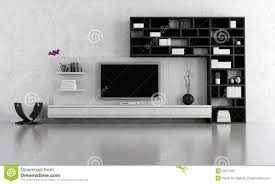 White Living Room Living Room With Lcd Tv Stock Illustration Image Of Electronics