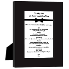 poem from bride to groom on wedding day wedding gift for my son lading for