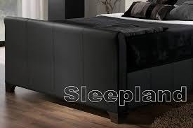 kaydian allendale brown black leather ottoman bed 6ft super kingsize