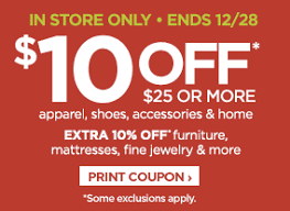 jcpenney 10 off 25 apparel shoes accessories u0026 home in store